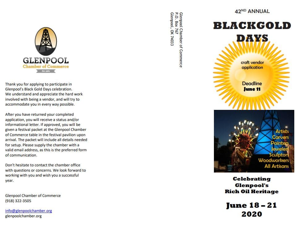 Black Gold Days Craft Vendor Application